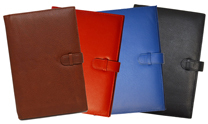 Black, Blue, Red & British Tan Colored Leather Planners